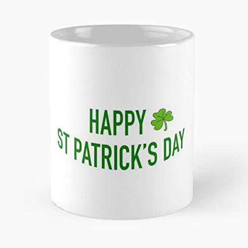Saint Patricks Happy Beer St Irland Day Best - Taza de café (cerámica, 325 ml)