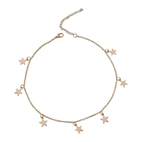 Crystal Star Charm choker voor vrouwen zilver/goud kristallen choker halsketting
