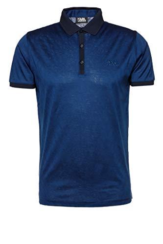 Karl Lagerfeld Herren Poloshirt Blau XL