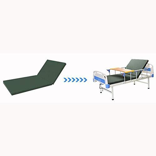Love Home Medizinische Matratze, doppelt, faltbar, waschbar, Krankenhausunterlage, Kokosnuss-Matratze, Matratze, Polyester, grün, 90x190cm(35x75inch)