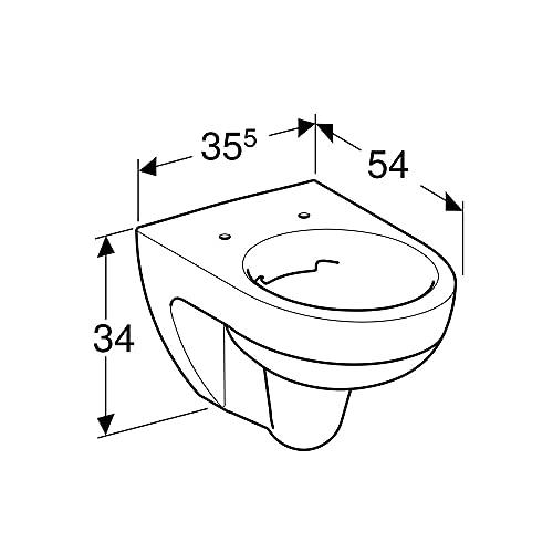 Keramag Renova Nr.1 Tiefspül-WC spülrandlos 4,5/6l wandhängend weiß KeraTect - 2