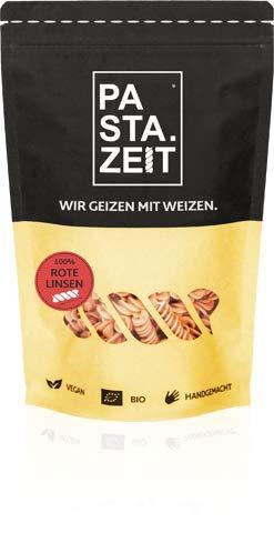 PASTAZEIT Rote Linsen Nudeln - Low Carb Nudeln, Proteinreich, Handgemacht, Vegan, Weizenfrei, lange Sättigung, In 5 Minuten al dente (5 x 250g)