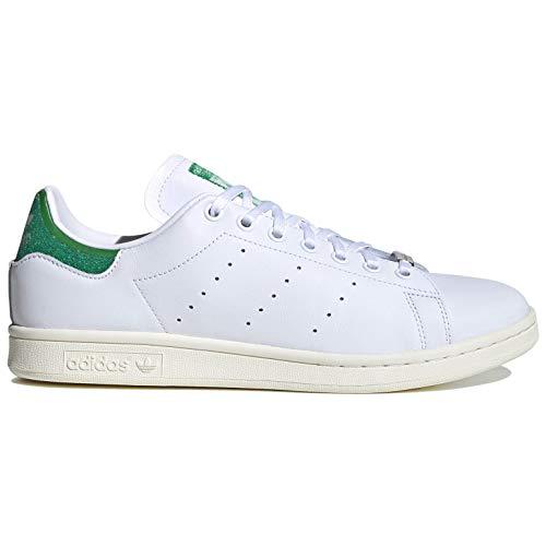 adidas Zapatos casuales Stan Smith para hombre con cristales de Swarovski Fx7482, blanco (Blanco/Verde/Blanco Desteñido), 40 EU