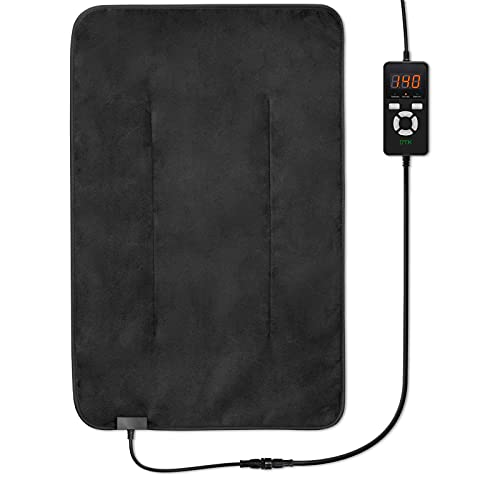 """UTK Ultra-Soft Far Infrared Heating Pad for Pain Relief, Flexible Infrared Heating Therapy for Back, Cramps - XL [16""""x24""""], EMF Free, Auto Shut Off, Adjustable Temp and Memory Function"""