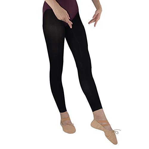 DANCEYOU 2 Pares sin Pies Ballet Medias Leggings Mallas de Baile de Ballet 70 Den Microfibra Opaco para Mujeres y Niñas Altura 140-180cm Negro L
