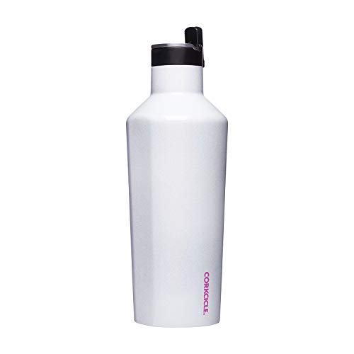 Corkcicle Canteen Sport Collection - Water Bottle & Thermos - Triple Insulated Shatterproof Stainless Steel, 40oz, Unicorn Magic