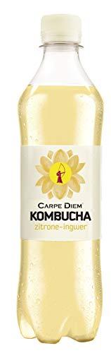 Carpe Diem Kombucha Zitrone-Ingwer, 12er Pack (12 x 500 ml)