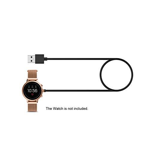 1 m Smart Band snellader vervanging voor Fossil Gen 4 Gen 5 draagbare draadloze USB-oplaadkabel zwart