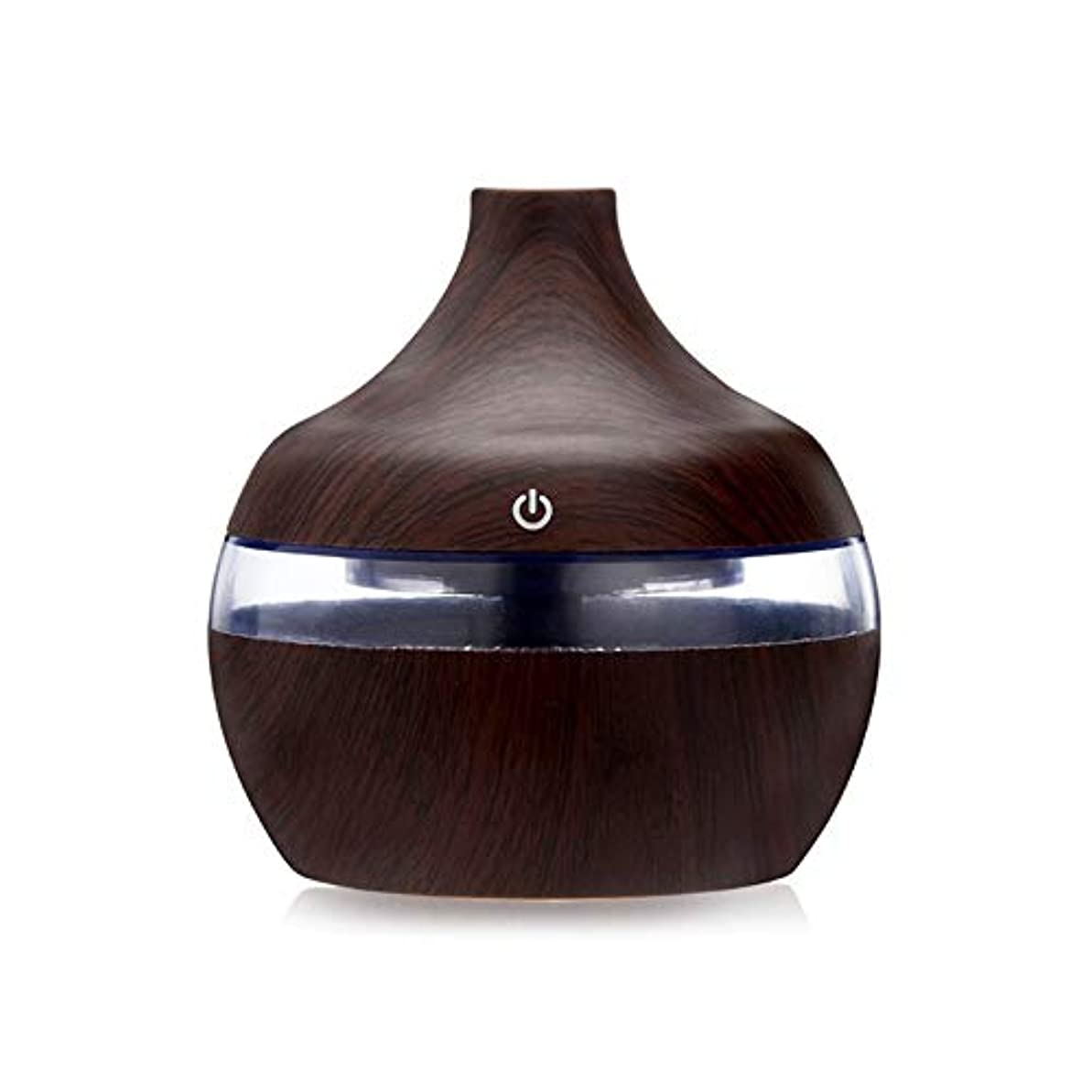 複製草ボタン木目エッセンシャルオイルアロマディフューザーUSB充電ホーム空気加湿器浄化なだめるようなLEDナイトライトミストメーカー