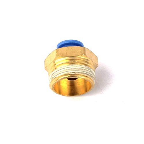ZHaonan-Manguera de latón 2pcs, 1/2 pulgada a 6mm / 8mm manguera de conexión rápida, Hombre Rosca latón apropiado for niebla de pulverización de alta presión neumática, , accesorios de manguera de agu