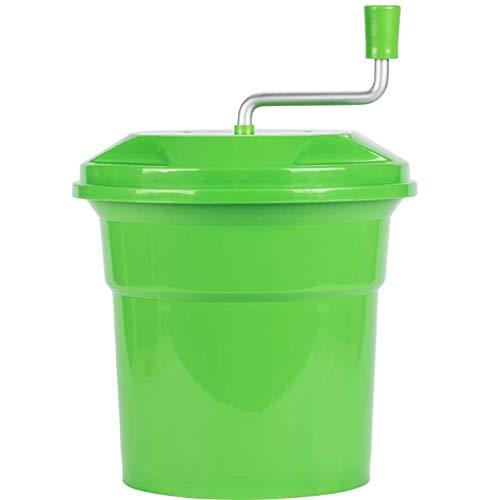 Green 2.5 Gallon Commercial Plastic Salad Spinner/Dryer