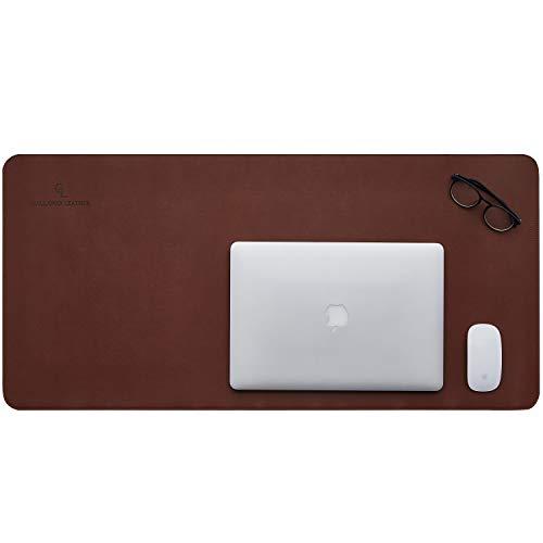 Gallaway Leather Desk Pad – 36 x 17 inch Large Mouse Pad - Desk Mat Home Office Desk Accessories Desktop Protector Non Slip Writing Desk Blotter (Dark Brown) Photo #3