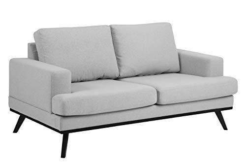 Amazon Brand - Movian Rotsee - Sofá de 2 plazas, 92 x 165 x 81 cm (largo x ancho x alto), gris claro