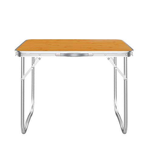 SA Products Folding Utility Table - Foldable Garden Table for Camping, Party & Picnic - Small Fold Up Desk - Lightweight & Portable - Sturdy Outdoor Patio Furniture with Aluminium Frame - 2.3 Feet