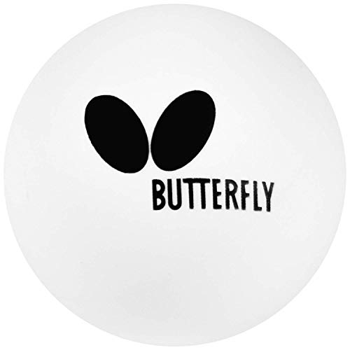 Butterfly Easy Training Table Tennis Balls - White Ping Pong Balls - Poly Table Tennis Ball - Ideal for Multi-Ball Practice and Robot Training - 6 Balls or 120 Balls