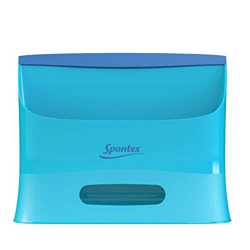 Spontex Catch & Clean, Kehrbesen mit Gummiborsten, Teleskopstiel und praktischem Auffangbehälter, hygienische und effiziente Reinigung für alle Bodenbeläge, 1 Set - 13