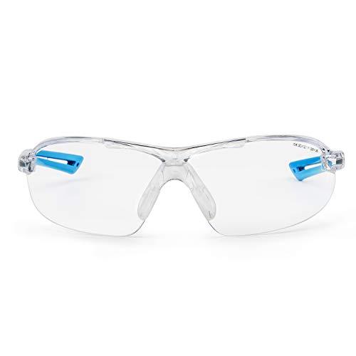SolidWork SW8315 - Gafas de seguridad profesionales con protección lateral integrada, protección ocular con lentes transparentes, antiniebla, resistente a los arañazos y con protección UV