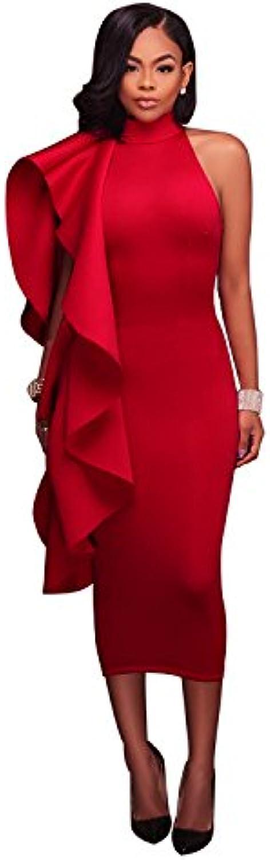Gaoxu Europa und die vereinigten Staaten EIN EIN EIN Wort Rock, Frauen ist Reine Farbe Lady, Lotus - Blatt ärmellose Kleid, Das Kleid B074X1RDY4  Qualifizierte Herstellung 40be62
