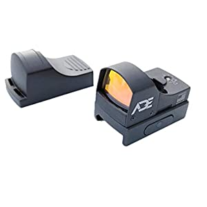 Ade Advanced Optics RD3-002 Tactical Micro Compact Reflex Red Dot Sight with Integral Weaver-Picatinny Mount for Pistol/Rifle/Shotgun
