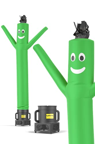 LookOurWay Air Dancers Inflatable Tube Man Complete Set with 1/4 HP Blower, 6-Feet, Green