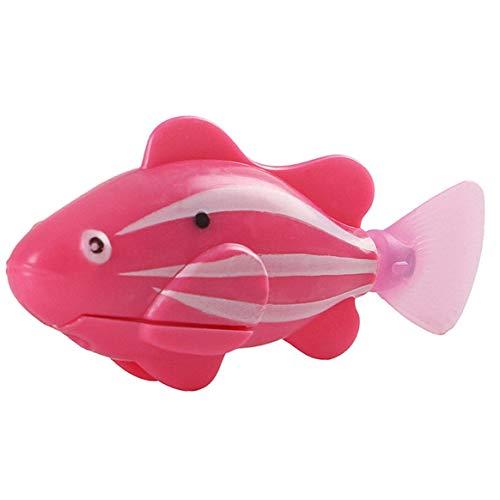 Kongqiabona-UK Suministros para Mascotas Gato Juguete simulación de natación eléctrica pez Rosa Rojo Verde Azul Robot de natación Activa electrónica mágica en el Agua