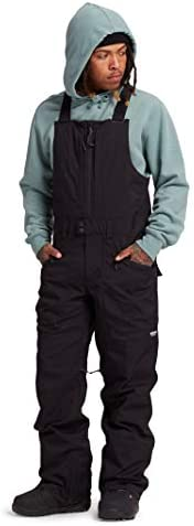 Burton Mens Reserve Bib Pant True Black New Large product image