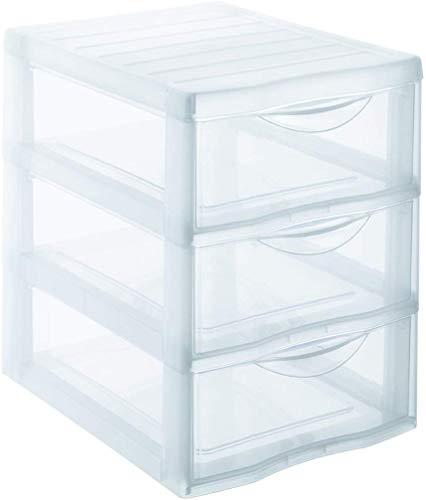 Sundis Orgamix Mini Aufbewahrungsbehälter, Kunststoff, durchsichtig, L24,5 x l.18,5 x H25,5cm