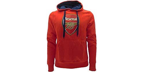 Gunners Sudadera con capucha oficial para niños, equipo de fútbol inglés rojo 11-12 años