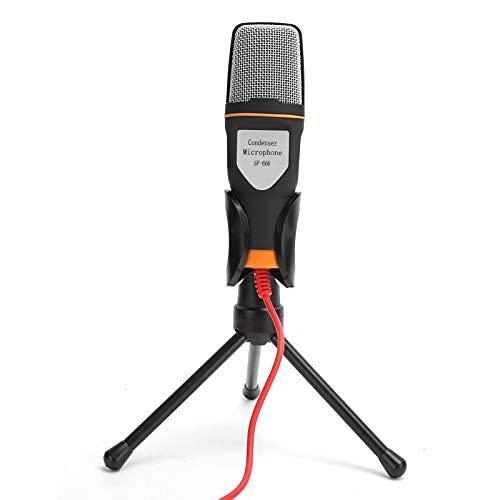 コンピューターのマイク、コンピューターの有線マイク USB プラグ アンド プレイで、Mac および で Podcast 録音用に をチャットできます。カメラ(black)