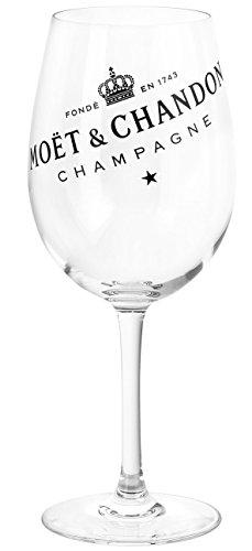 Moët & Chandon champagne champagne glas met zwart logo opdruk (1 stuks)