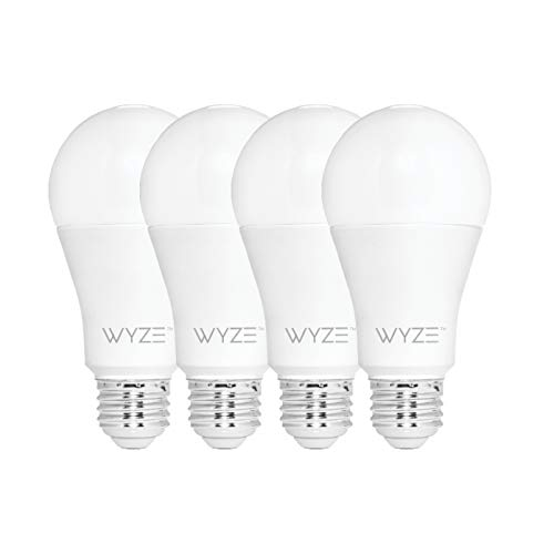 Wyze Labs WLPA19-4 Smart Wyze Bulb, 4-Pack, White, 4 Count
