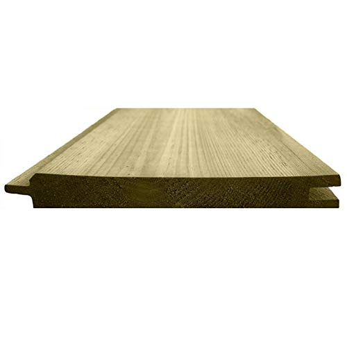 Tongue & Groove Cladding Thick Treated Wooden TGV Boards 121mm x 14.5mm (20, 2.4m)