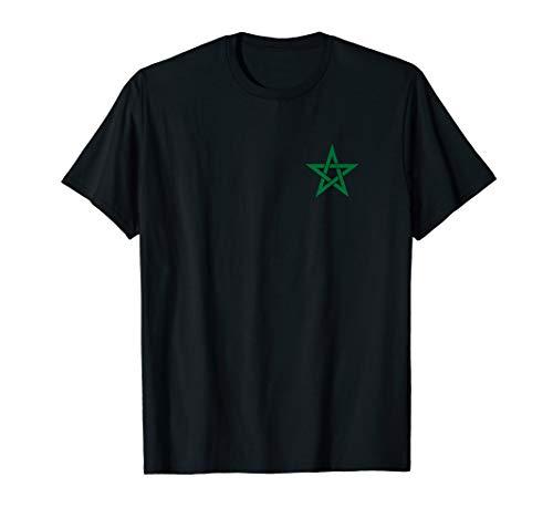 Marokko Moroccco Marocco Marokkanisch Marok Stern Flagge T-Shirt
