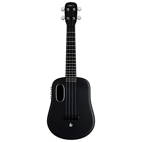 LAVA U Carbon Fiber Ukulele with Effects Concert Travel Ukulele with Case Pick and Charging Cable (FreeBoost,...