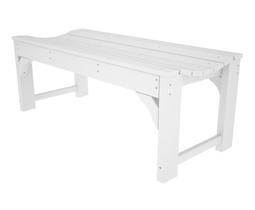 """Big Sale POLYWOOD BAB148WH Traditional Garden 48"""" Backless Bench, White"""