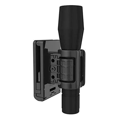 TEGE Tactical Flashlight Holder Adjustable Holster with Belt Clip for Law Enforcement and Security
