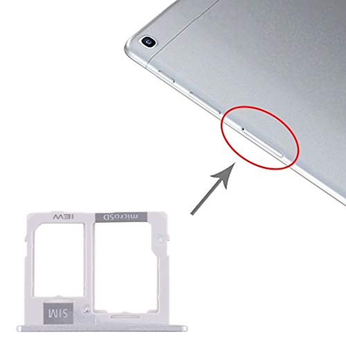 Youanshanghang Mobile Phone Internal Accessories Replace SIM Card Tray + Micro SD Card Tray for Samsung Galaxy Tab A 10.1 (2019) / SM-T515 (Silver) (Color : Silver)