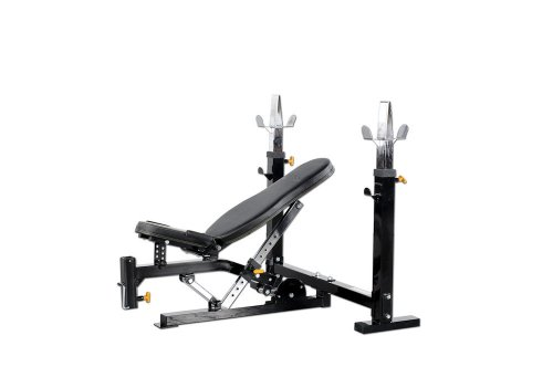 Powertec Fitness Workbench Olympic Bench, Black