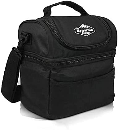 discount Dynamic Gear Refrigerated Lunch Box Tote Bag, outlet online sale Large, Adults/Men/Women, Insulated, Mesh Pockets, for Travel, Work, Picnic, Camping! 2021 (Black) outlet sale