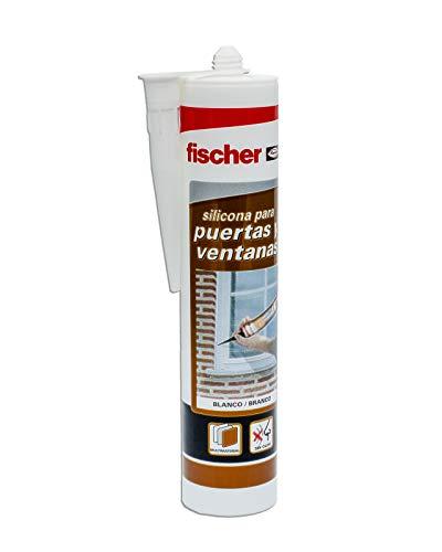 Fischer 505444, Silicona puertas y ventanas blanca, Formato Cartucho