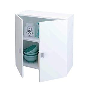 Samblo Armario Bajo de Cocina con 2 Puertas, Blanco, 26.5 x 60 x 60 cm