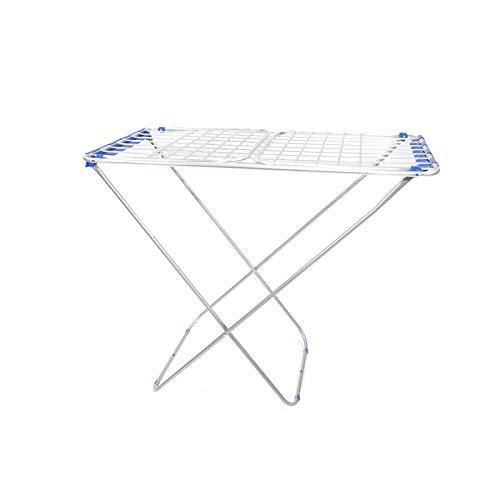 Tendedero de suelo para la colada y la ropa plegable, tamaño 175 x 55 x 110 cm, color azul