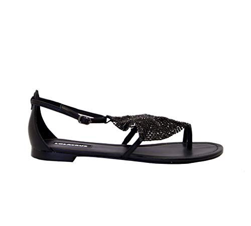 Luxury Fashion | Lola Cruz Dames 136Z10BKV20BLACK Zwart Leer Sandalen | Lente-zomer 20