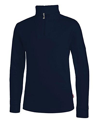 Medico Kinder Ski Shirt, blau, 128, 100% Baumwolle, Langarm, Rollkragen, Reißverschluss, blau, 128