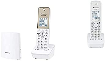 【セット買い】パナソニック デジタルコードレス電話機 迷惑電話対策機能搭載 ホワイト VE-GDL45DL-W & 増設子機 (ホワイト) KX-FKD401-W