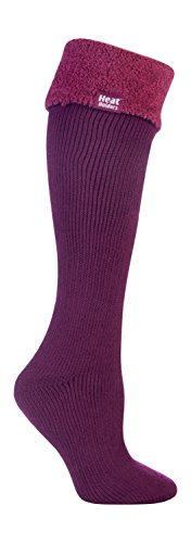 Heat Holders - Damen wärme winter thermosocken für gummistiefel stiefelsocken in 4 Farben 37-42 EUR (New Long Boot), Deep Fuchsia, Medium