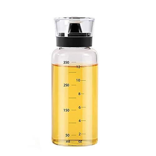 AIJIANG, bottiglia per olio in vetro, trasparente, a prova di perdite, per salsa di soia, aceto, oliva, per barbecue all'aperto