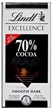 Lindt Excellence Bar (Dark Chocolate 70% Cocoa) - Pack of 4