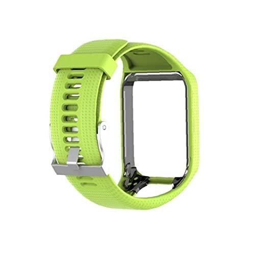 FeelMeet Reemplazo de Silicona Reloj de Reloj de la Venda de la Correa Multi usos para Tomtom Verde Spark
