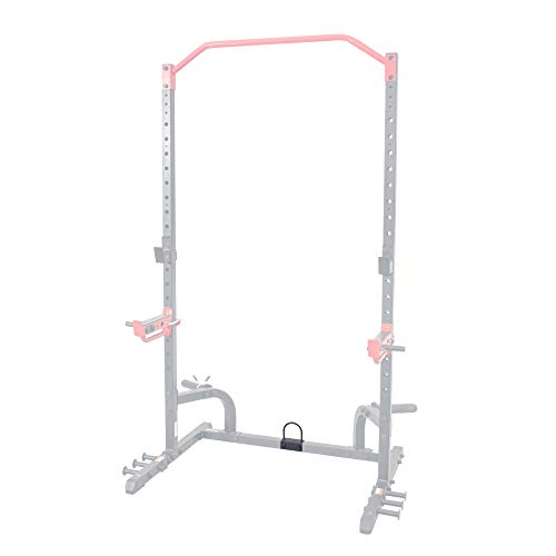Sunny Health and Fitness Sunny Health & Fitness U-Ring Attachment for Power Racks and Cages – SF-XFA005 Anilla jaulas, Unisex, Negro, Talla única